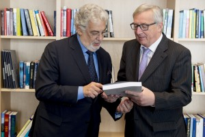 Jean-Claude Juncker, Placido Domingo